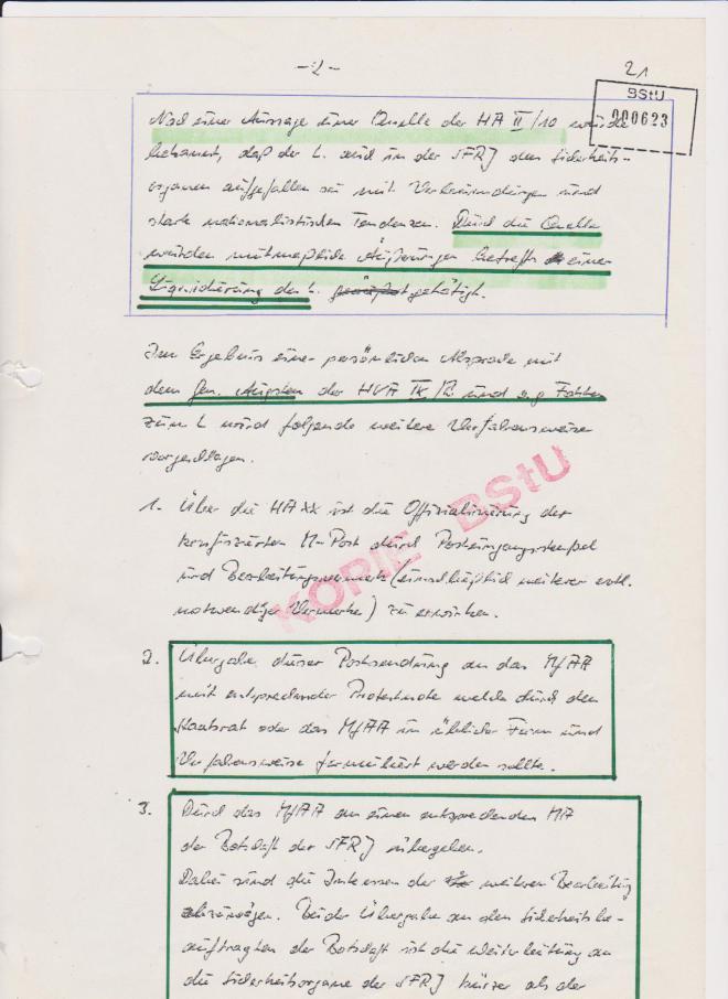 Wer ist die Quelle der HA II/10 in Jugoslawienn? Frau Marlies Lauks geborene Rummel !??